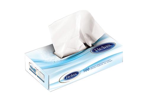 Сухи кърпи за лице Relax 100 бр.